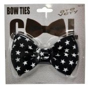 Costumes For All Occasions SA10029 Bow Tie Black W White Stars