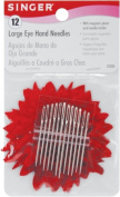 Singer 1824 Large Eye Hand Needles With Magnetic Needle Holder-Assorted 12-Pkg