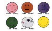 centre ENTERPRISES CE-090 GRADING STAMPS SMILE BALLOONS-6/PK