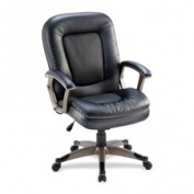 Lorell LLR69519 Mid-back Chair- 27in.x32-.50in.x43-.50in.- Black