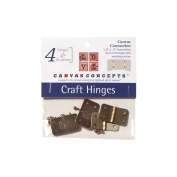 Decor Canvas Craft Hinges 4/Pkg-Brass 3.2cm X.190cm