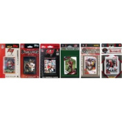 C & I Collectables BUC611TS NFL Tampa Bay Buccaneers 6 Different Licenced Trading Card Team Sets
