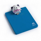 Blancho Bedding RMC004-WHITECAT Happy White Cat - Refrigerator Magnet clip - Magnetic Clipboard