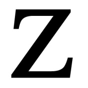 Village Wrought Iron LET-Z-S Letter Z Small