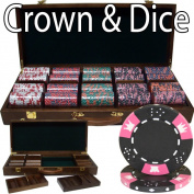 Brybelly Holdings PSC-0403W 500 Ct - Pre-Packaged - Crown& Dice 14g - Walnut Case