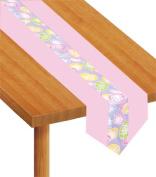 Beistle - 40185 - Easter Eggs Fabric Table Runner - Pack of 6
