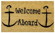 DC MILLS 12009 Welcome Aboard - Vinyl Back Mat - 18 X 30 Inches