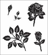 Heartfelt Creations 120754 Heartfelt Creations Cling Rubber Stamp Set 13cm . x 17cm . -Bold Bella Rose