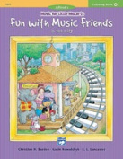 Alfred 00-19672 Music for Little Mozarts- Colouring Book 4- Fun with Music Friends in the City - Music Book