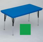 """Correll AR3060-REC-29 Rectangular-Shaped Resin Activity Table, 60Wx30""""D, Green"""