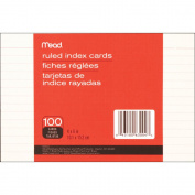 Meadwestvaco 468112 Index Cards 10cm . x 15cm . 100-Pkg-Ruled White