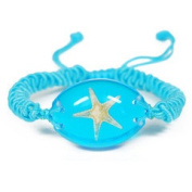Ed Speldy East OLW101 Real Bug Bracelet-Starfish-Oval Shape-Clear Blue