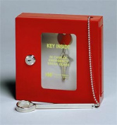 STEELMASTER Emergency Key Box, Keyed Alike, 6.75 x 17cm x 5.1cm , Red