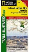 National Geographic TI00000310 Map Of Canyonlands - Island in the Sky District - Utah