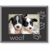 SixTrees GT37846 Frame Woof Rhinestone Pawprints