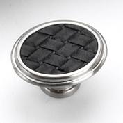 Strategic Brands 12193 1. 160cm Oval Knob-Satin Nickel - Black
