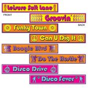 Beistle 54502 Disco Street Sign Cutouts