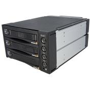StarTech 3-Drive 6.4cm /8.9cm Removable Mobile Rack SAS/SATA Backplane