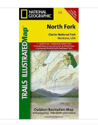 National Geographic Maps TI00000313 North Fork-Glacier National Park
