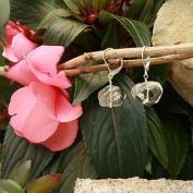 Betty Rocks BERCQZ14216141LB Euro Lever Back 16 x 14mm Nugget Rondell Crystal Quartz Earrings