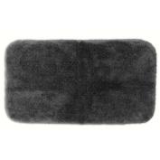 Garland Rug PRE-3050-15 Finest Luxury 30 in. x 50 in. Ultra Plush Washable Nylon Rug Dark Gray
