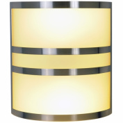 Quality Home Items 617615 Contemporary Fluorescent Lighting Collection, Wall Sconce, Brushed Nickel