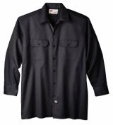 Dickies Extra Extra Large Black Mens Long Sleeve Work Shirt WL574BK 2X