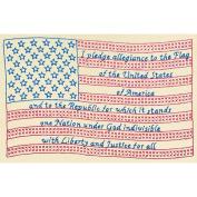 Jack Dempsey 447607 Stamped Antique Sampler 28cm . x 36cm . -Flag
