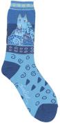 K Bell 85078 Laurel Burch Socks-Blue Felines