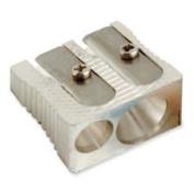 Baumgartens BAUMR2110 Dual Sharpener- 2.5cm .- Metal- Silver