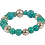 The Premium Connexion Bret Roberts Round Cut Turquoise Beaded Strand Bracelet