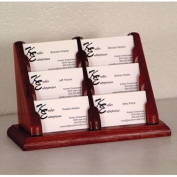 Wooden Mallet 6 Pocket Business Card Holder in Mahogany