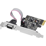 SIIG JJ-E01111-S1 IO Cards DP 1-Port RS232 Serial PCI Express 16950 UART Brown Box