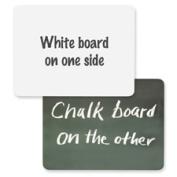 Chenille Kraft Company CKC9883 White Board-Chalkboard Combo- .60cm .x23cm .x30cm .- White-Green