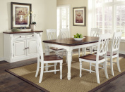 Home Styles Monarch Rectangular Dining Table and 6 Double X-Back Chairs, Multiple Finishes