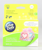 Glue Dots .13cm Removable Dot Sheets Value Pack-600 Clear Dots