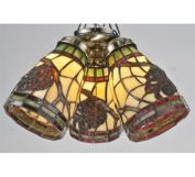 Meyda 98994 Pinecone Dome Fanlight Shade