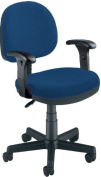 OFM 150-AA-DK-119 Lite Use Computer Task Chair with Arms and Drafting Kit - Blue