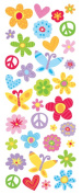 Sticko 473447 Puffy Classic Stickers-Peace and Love