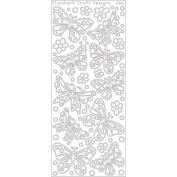 Elizabeth Craft Designs 124605 Butterfly Small Peel Off Stickers 10cm . x 23cm . Sheet-Black