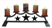 Village Wrought Iron C-PFP-45 Star Fireplace Pillar Candle Holder