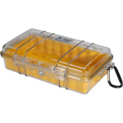 Pelican 1060-027-100 Yellow Micro Case with Clear Lid and Carabineer