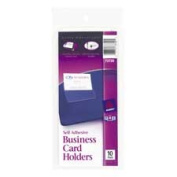 Avery Consumer Products AVE73720 Business Card Holder- Self Adhesive- Holds 5.1cm .x3-.130cm . Cards