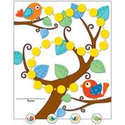 CARSON DELLOSA CD-148016 BOHO BIRDS MINI INCENTIVE CHARTS