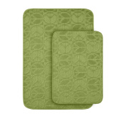 Garland Rug PB-2PC-LGN Peace Two Piece Bath Rug Lime Green