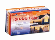Penn 661-302910 - 100 Icicle Light Add-A-Set - Red-White-Blue