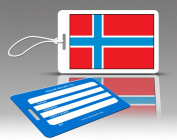 Insight Design 770574 TagCrazy Luggage Tags- Norway Flag- Set of Three