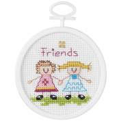 Janlynn 405811 Friends Mini Counted Cross Stitch Kit-6.4cm . Round 18 Count