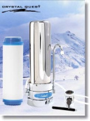 Crystal Quest CQE-CT-00113 Countertop Replaceable Single Multi Ultra Water filter System