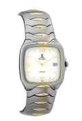 Nobel Watch N 757 G SS Two-Tone Gents Watch Sapphire Crystal Swiss Movement Water-Resistant 3 ATM